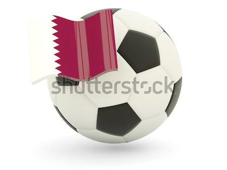 Voetbal vlag Denemarken geïsoleerd witte sport Stockfoto © MikhailMishchenko