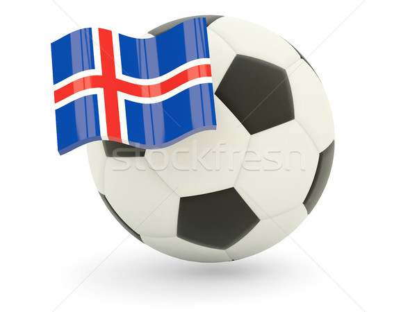 Football with flag of iceland Stock photo © MikhailMishchenko
