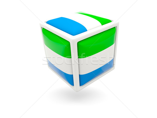 Flag of sierra leone. Cube icon Stock photo © MikhailMishchenko