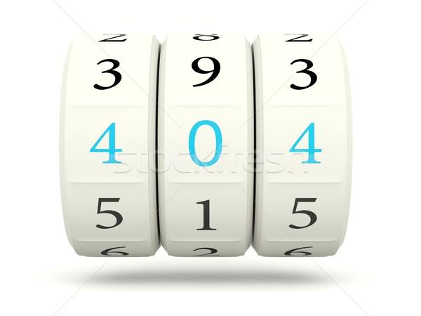 404 hiba játékautomata izolált fehér internet Stock fotó © MikhailMishchenko