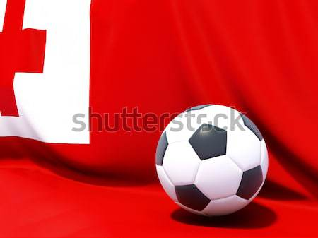 Flag of bahrain with football in front of it Stock photo © MikhailMishchenko