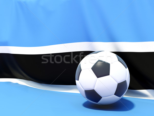 Flag of botswana with football in front of it Stock photo © MikhailMishchenko