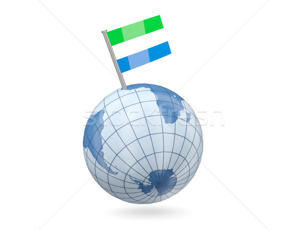 Globe with flag of sierra leone Stock photo © MikhailMishchenko