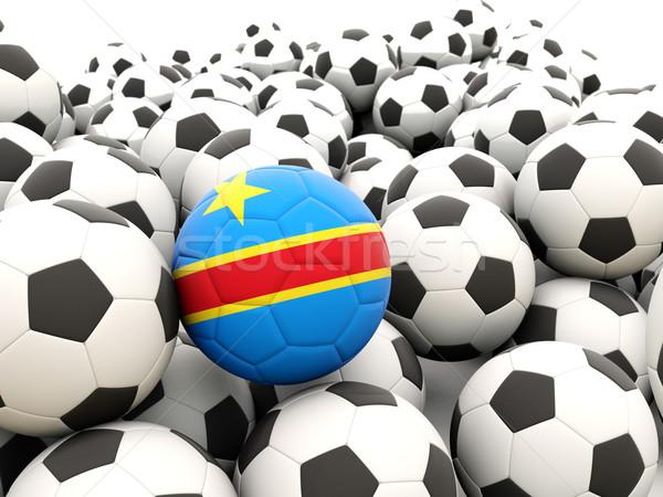 Futbol bayrak demokratik cumhuriyet Kongo düzenli Stok fotoğraf © MikhailMishchenko