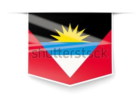 Postage stamp icon of antigua and barbuda Stock photo © MikhailMishchenko
