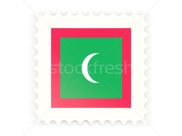 почтовая марка икона Мальдивы изолированный белый почты Сток-фото © MikhailMishchenko