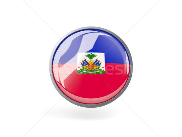 Ikon bayrak Haiti Metal çerçeve seyahat Stok fotoğraf © MikhailMishchenko