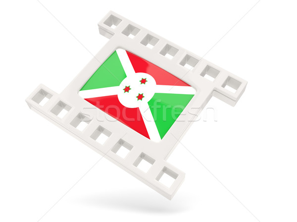 Filme ícone bandeira Burundi isolado branco Foto stock © MikhailMishchenko