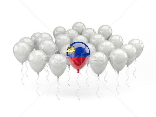 Air balloons with flag of liechtenstein Stock photo © MikhailMishchenko