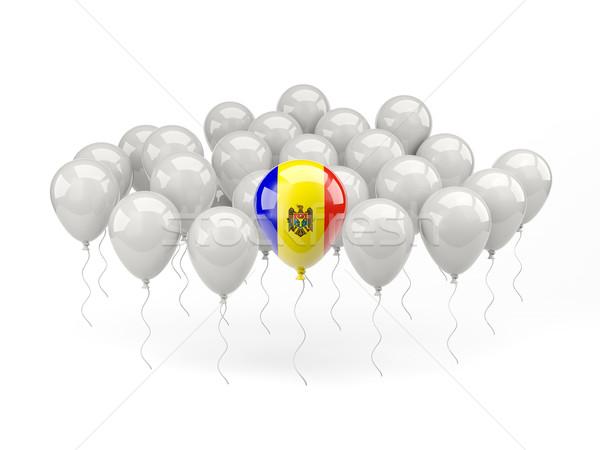 Air balloons with flag of moldova Stock photo © MikhailMishchenko