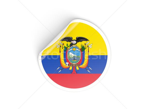 Round sticker with flag of ecuador Stock photo © MikhailMishchenko