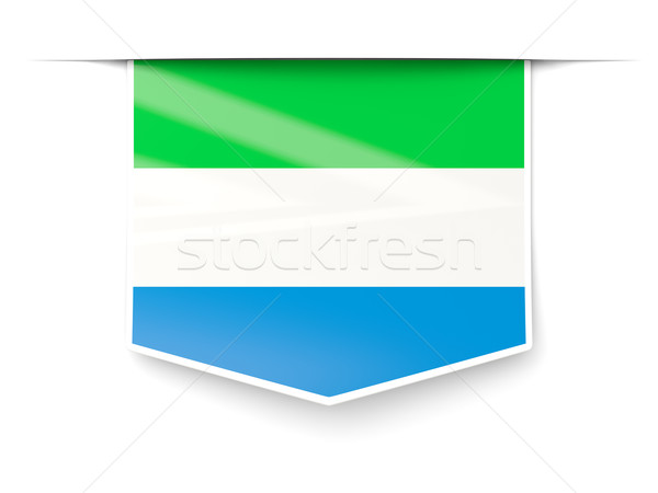 Square label with flag of sierra leone Stock photo © MikhailMishchenko