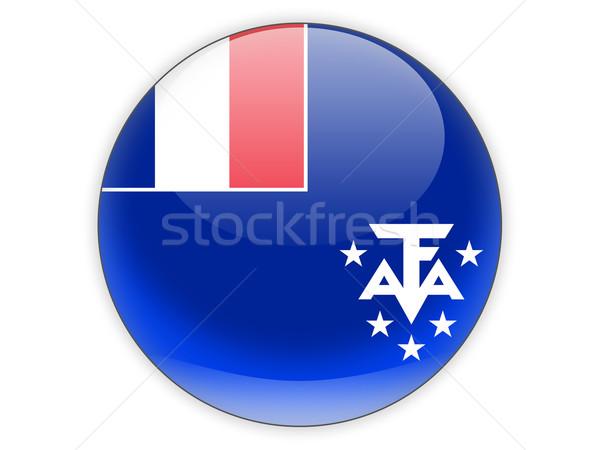 Ikon zászló francia déli izolált fehér Stock fotó © MikhailMishchenko