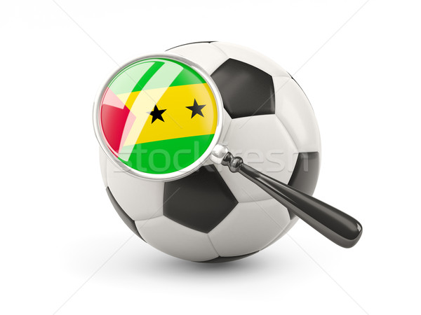 Football with magnified flag of sao tome and principe Stock photo © MikhailMishchenko