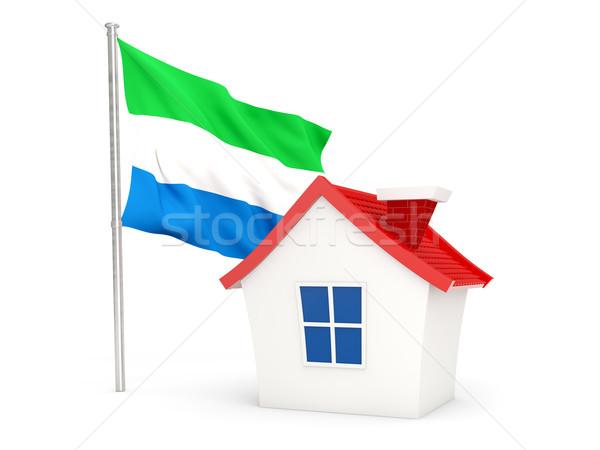 House with flag of sierra leone Stock photo © MikhailMishchenko