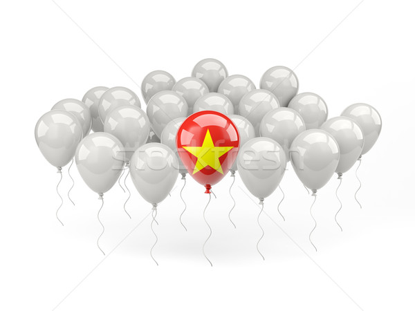 воздуха шаров флаг Вьетнам изолированный белый Сток-фото © MikhailMishchenko