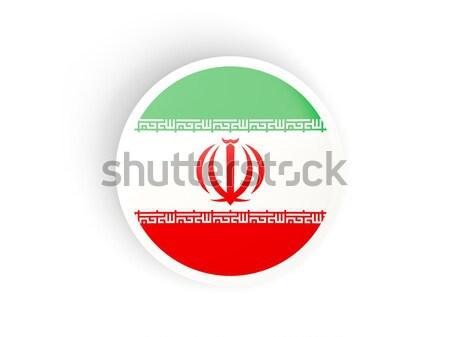 Ikon bayrak İran parlak imzalamak beyaz Stok fotoğraf © MikhailMishchenko