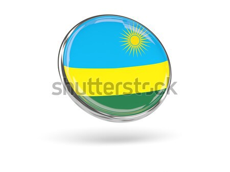Icône pavillon Rwanda signe blanche Photo stock © MikhailMishchenko