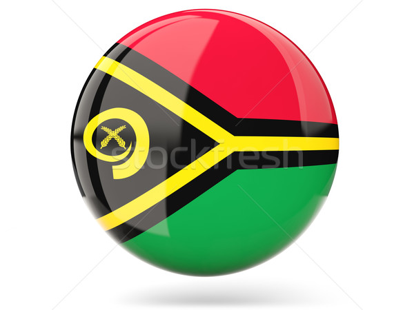 ícone bandeira Vanuatu assinar branco Foto stock © MikhailMishchenko