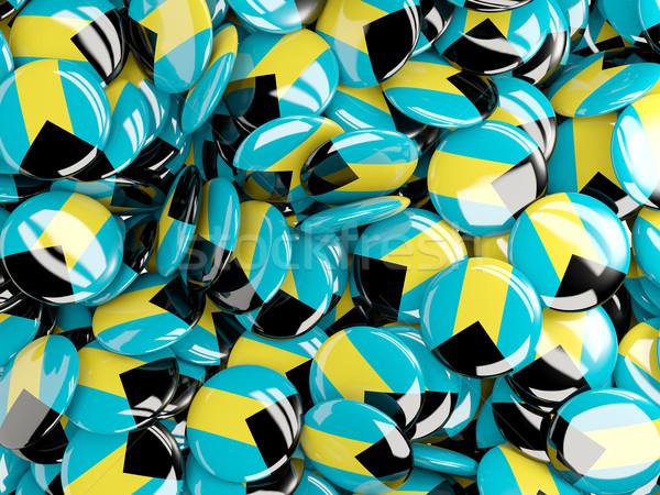 Background with round pins with flag of bahamas Stock photo © MikhailMishchenko
