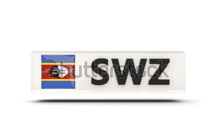 Amour Swaziland signe isolé blanche pavillon Photo stock © MikhailMishchenko