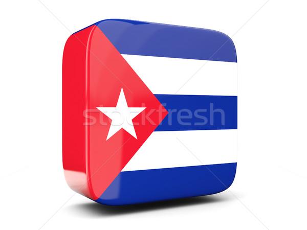 Tér ikon zászló Kuba 3d illusztráció izolált Stock fotó © MikhailMishchenko