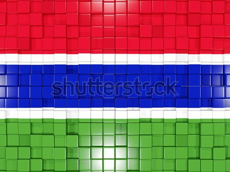 広場 フラグ ガンビア 3次元の図 モザイク ストックフォト © MikhailMishchenko