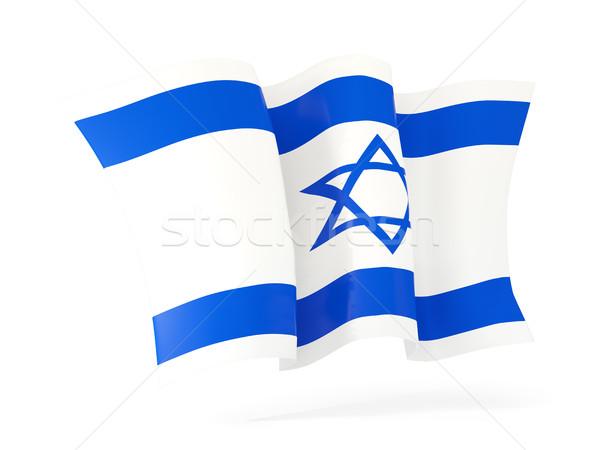 флаг Израиль 3d иллюстрации изолированный белый Сток-фото © MikhailMishchenko