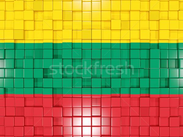 広場 フラグ リトアニア 3次元の図 モザイク ストックフォト © MikhailMishchenko