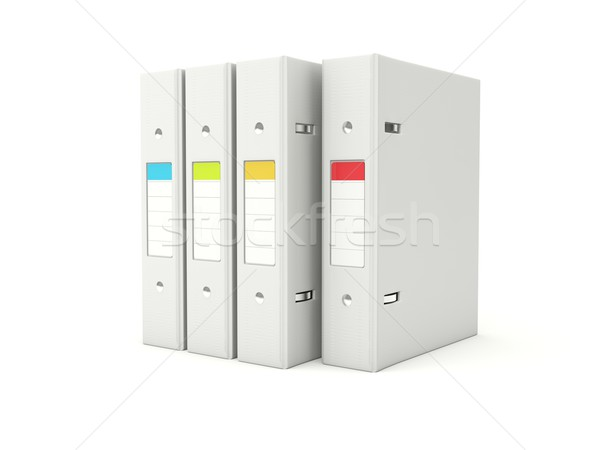 Folders with color labels Stock photo © MikhailMishchenko