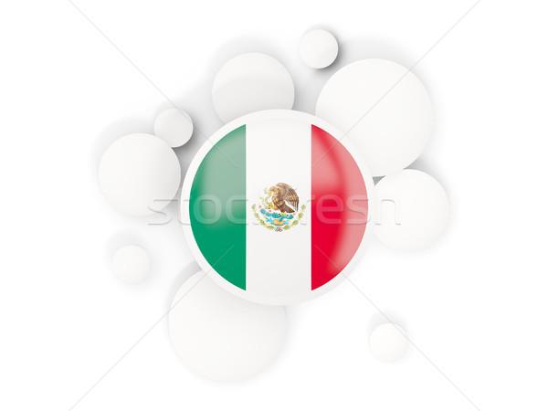 флаг Круги шаблон изолированный белый 3d иллюстрации Сток-фото © MikhailMishchenko