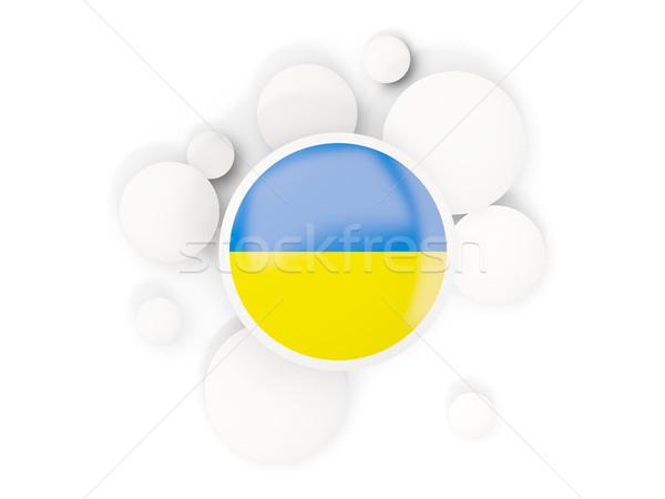 Bandeira círculos padrão isolado branco ilustração 3d Foto stock © MikhailMishchenko