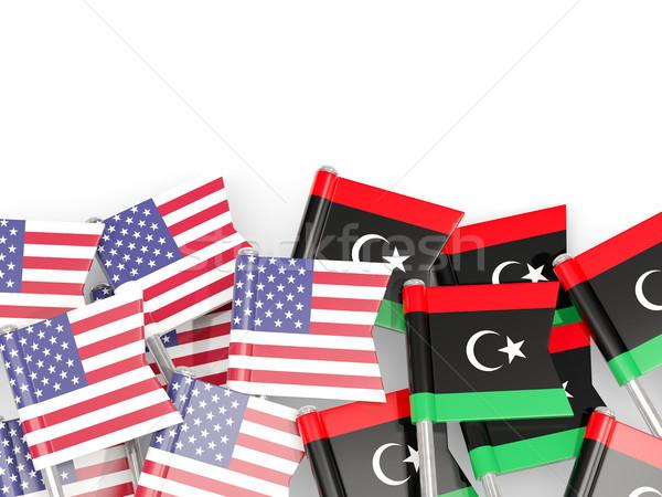 Banderą USA odizolowany biały 3d ilustracji Ameryki Zdjęcia stock © MikhailMishchenko