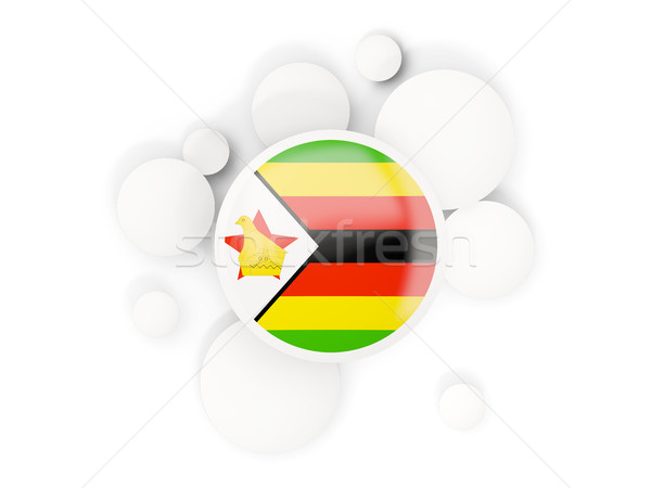 Round flag of zimbabwe with circles pattern Stock photo © MikhailMishchenko