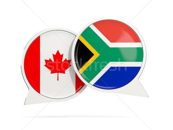 Chat bubbles of Canada and South Africa isolated on white Stock photo © MikhailMishchenko