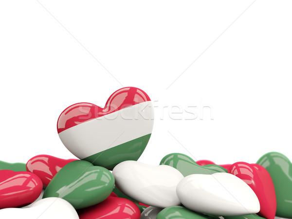 Heart with flag of hungary Stock photo © MikhailMishchenko