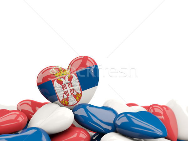 Heart with flag of serbia Stock photo © MikhailMishchenko