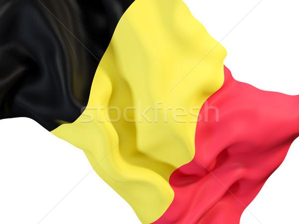 Bandera Bélgica primer plano 3d viaje Foto stock © MikhailMishchenko
