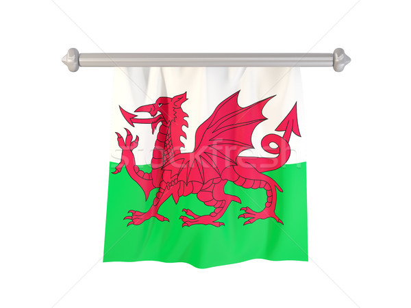 Pennant with flag of wales Stock photo © MikhailMishchenko