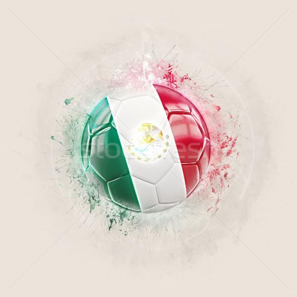 Grunge football with flag of mexico Stock photo © MikhailMishchenko