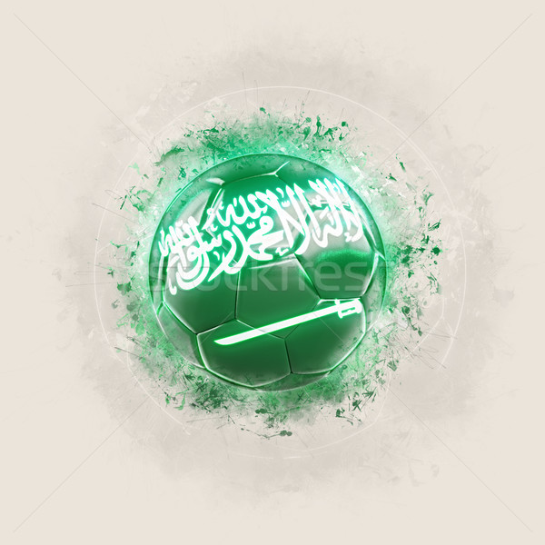 Grunge futebol bandeira Arábia Saudita ilustração 3d mundo Foto stock © MikhailMishchenko