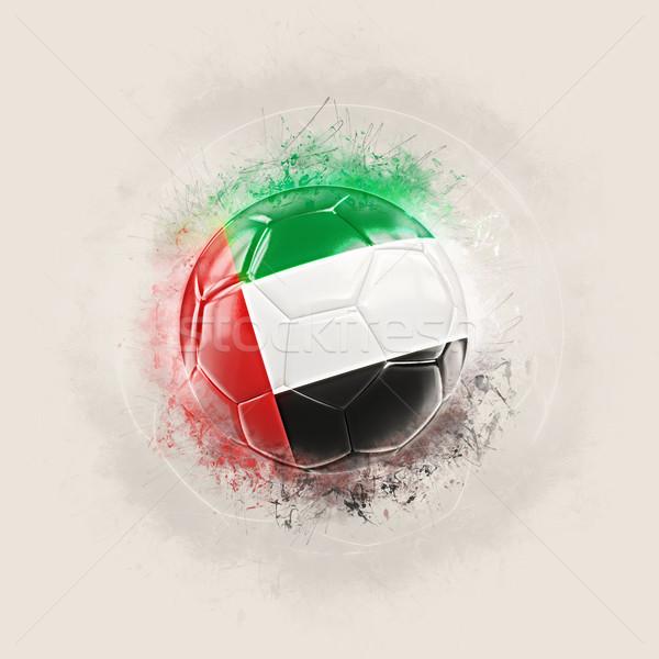 Grunge futebol bandeira Emirados Árabes Unidos ilustração 3d mundo Foto stock © MikhailMishchenko