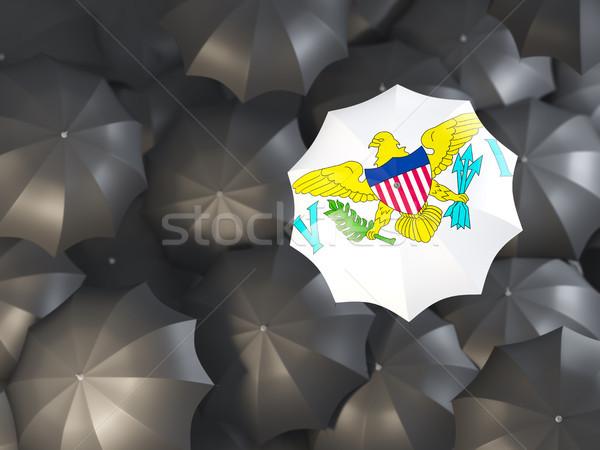 Umbrella with flag of virgin islands us Stock photo © MikhailMishchenko