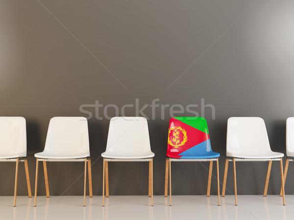 Председатель флаг Эритрея белый стульев Сток-фото © MikhailMishchenko