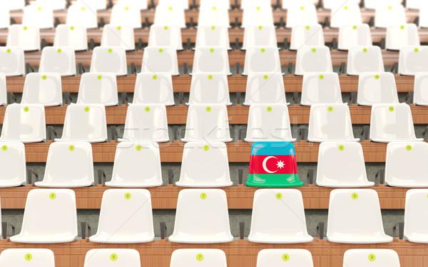 Estadio asiento bandera Azerbaiyán blanco Foto stock © MikhailMishchenko