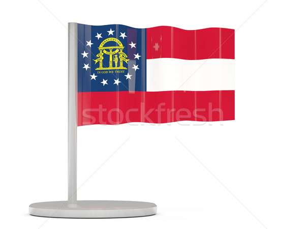 Flag pin with flag of georgia. United states local flags Stock photo © MikhailMishchenko