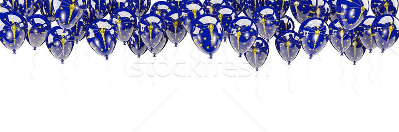 Balões quadro bandeira Indiana Estados Unidos local Foto stock © MikhailMishchenko