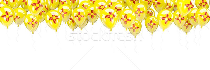 Balloons frame with flag of new mexico. United states local flag Stock photo © MikhailMishchenko