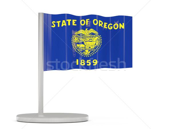 Bayrak pin Oregon Amerika Birleşik Devletleri yerel bayraklar Stok fotoğraf © MikhailMishchenko