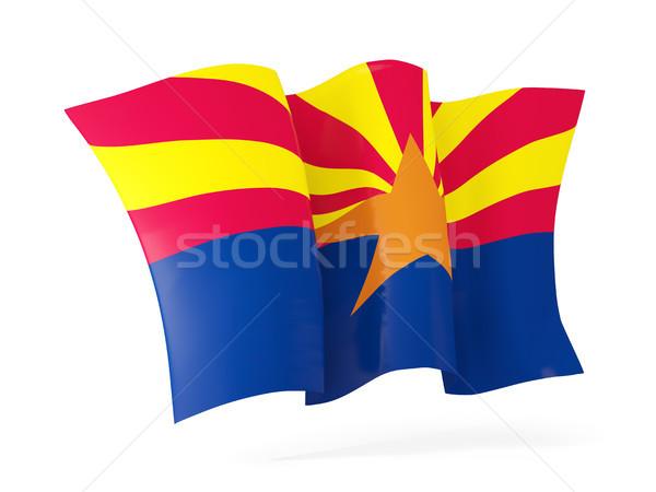 Arizona zászló integet ikon közelkép Egyesült Államok Stock fotó © MikhailMishchenko